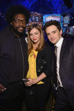 "Questlove, Amber Tamblyn and Vincent Piazza attend HBO's ""Boardwalk Empire"" Season Five Premiere - After Party at Cipriani on September 3, 2014 in New York City."