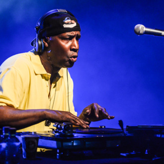 LONDON, ENGLAND - JUNE 13: Hip Hop DJ Grandmaster Flash performs on stage for James Lavelle's Meltdown at the Queen Elizabeth Hall on June 13, 2014 in London, United Kingdom. (Photo by Andy Sheppard/Redferns via Getty Images)