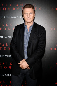 "NEW YORK, NY - SEPTEMBER 17:  Actor Liam Neeson attends the Universal Pictures and Cross Creek Pictures with The Cinema Society screening of ""A Walk Among the Tombstones"" at Chelsea Bow Tie Cinemas on September 17, 2014 in New York City.  (Photo by Ben Gabbe/FilmMagic)"