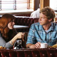 """YOU'RE THE WORST -- """"PTSD"""" -- Episode 106 (Airs Thursday, August 21, 10:30 pm e/p) -- Pictured: (L-R) Aya Cash as Gretchen Cutler, Chris Geere as Jimmy Shive-Overly -- CR: Byron Cohen/FX"""