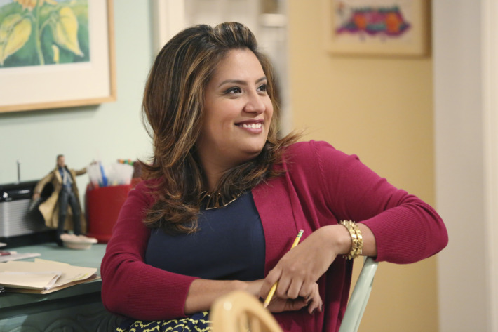 "CRISTELA - ""Equal Pay"" - Cristela is frustrated when Trent asks her to work on a case that supports unequal pay for women in the workplace. Meanwhile, Cristela finds some satisfaction when she learns that Daniela has been making more money than Felix for years...which she has kept as a secret...and Cristela is thus drawn into an emotional argument at home, on ""Cristela,"" FRIDAY, OCTOBER 24 (8:31-9:00 p.m., ET), on the ABC Television Network. (ABC/Adam Taylor)CRISTELA ALONZO"