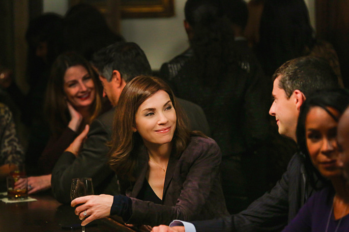 """Oppo Research"" -- When Alicia agrees to further explore the option of running for State\'s Attorney, Eli brings a respected campaign manager into the fold to help her decide once and for all, on THE GOOD WIFE, Sunday, Oct. 12 (9:00-10:00 PM, ET/PT), on the CBS Television Network.  Pictured (L-R) Julianna Margulies as Alicia Florrick and Matthew Goode as Finn Polmar Photo: Patrick Harbron?'??2014 CBS Broadcasting, Inc. All Rights Reserved"