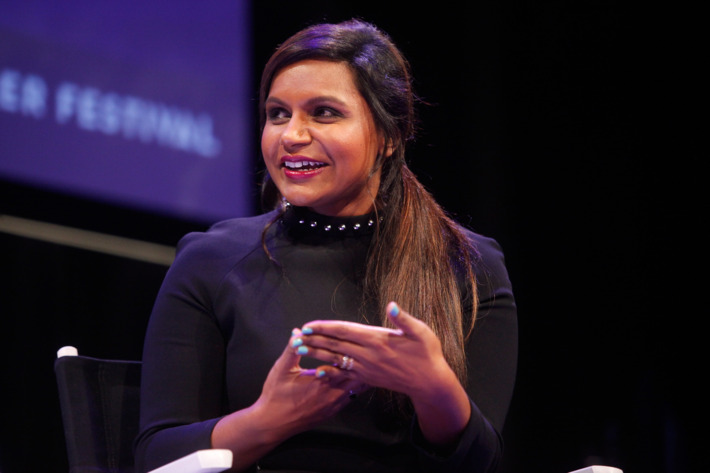 NEW YORK, NY - OCTOBER 11:  Mindy Kaling participates in a conversation with New Yorker television critic Emily Nussbaum during the New Yorker Festival on October 11, 2014 in New York City.  (Photo by Thos Robinson/Getty Images for The New Yorker)