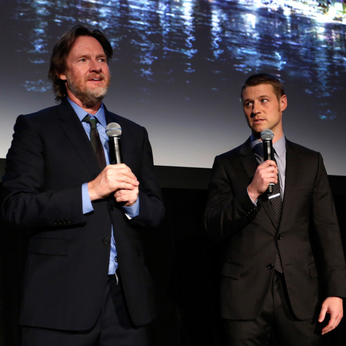 NEW YORK, NY - SEPTEMBER 15: Donal Logue and Ben McKenzie speaks at the GOTHAM Series Premiere event on September 15, 2014 in New York City. (Photo by Cindy Ord/Getty Imagesfor Fox Broadcasting Company)