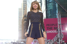 """GOOD MORNING AMERICA - Taylor Swift performs live in Times Square on """"Good Morning America,"""" 10/30/14, airing on the ABC Television Network. (Photo by Fred Lee/ABC via Getty Images)TAYLOR SWIFT"""