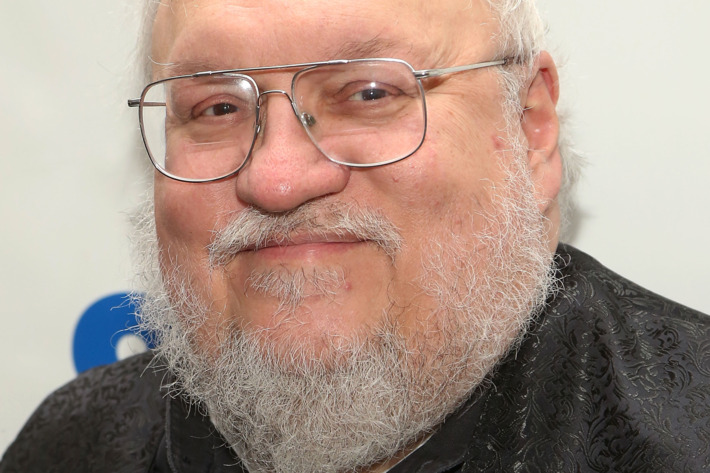 """NEW YORK, NY - OCTOBER 26:  """"Game of Thrones"""" creator George R.R. Martin promotes his book """"The World of Ice and Fire: The Untold History of Westeros and the Game of Thrones"""" at 92nd Street Y on October 26, 2014 in New York City.  (Photo by Taylor Hill/FilmMagic)"""