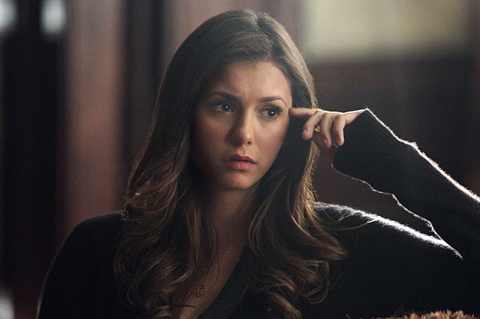 """The Vampire Diaries -- """"I Alone"""" -- Image Number: VD609a_0262.jpg -- Pictured: Nina Dobrev as Elena -- Photo: Annette Brown/The CW -- ?'?? 2014 The CW Network, LLC. All rights reserved."""