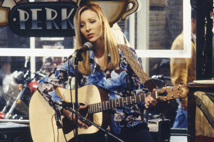 "FRIENDS -- ""The One After the Superbowl: Part 1"" Episode 12 -- Air Date 01/28/1996 -- Pictured: Lisa Kudrow as Phoebe Buffay  -- Photo by: NBCU Photo Bank"