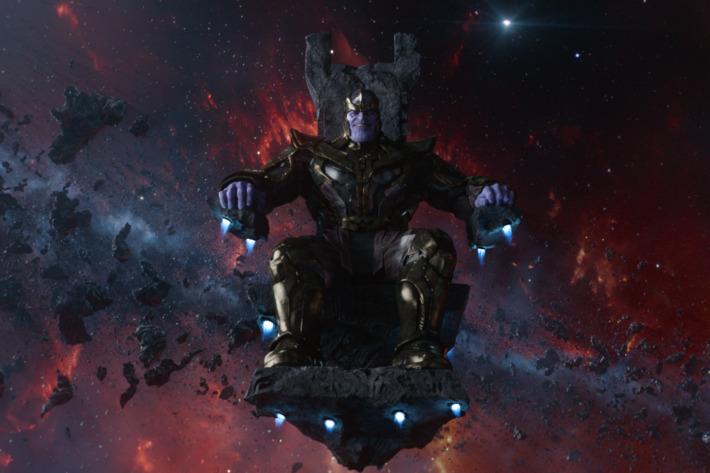 Marvel's Guardians Of The Galaxy                  Thanos (voiced by Josh Brolin)                  Ph: Film Frame                  ?Marvel 2014