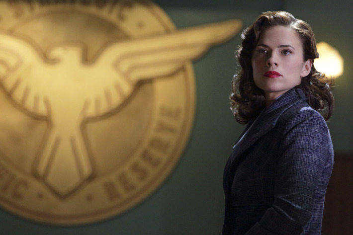 "MARVEL'S AGENT CARTER - ""Bridge and Tunnel"" - Howard Stark's deadliest weapon has fallen into enemy hands, and only Agent Carter can recover it. But can she do so before her undercover mission is discovered by SSR Chief Dooley and Agent Thompson? ""Marvel's Agent Carter"" airs TUESDAY, JANUARY 6 (9:00-10:00 p.m., ET), on ABC. (ABC/Michael Desmond)HAYLEY ATWELL"