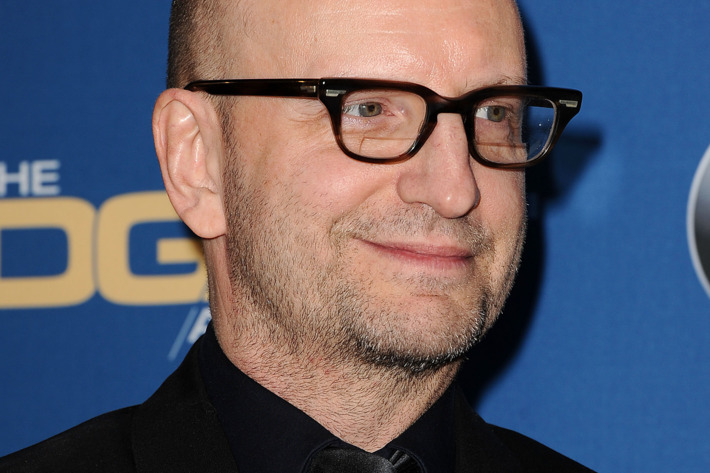 CENTURY CITY, CA - JANUARY 25:  Director Steven Soderbergh poses in the press room at the 66th annual Directors Guild of America Awards at the Hyatt Regency Century Plaza on January 25, 2014 in Century City, California.  (Photo by Jason LaVeris/FilmMagic)
