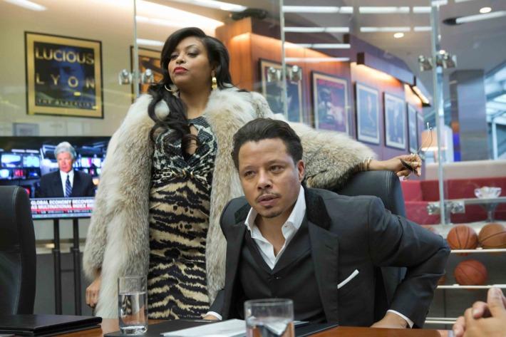 EMPIRE: Cookie Lyon (Taraji P. Henson, L) visits Lucious Lyon (Terrence Howard, R) to claim her share of the company in the premiere episode of EMPIRE airing Wednesday, Jan. 7 (9:00-10:00 PM ET/PT) on FOX.