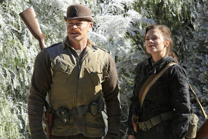 """MARVEL'S AGENT CARTER - """"The Iron Ceiling"""" - Peggy is finally trusted with a mission and calls upon her trusted Howling Commandos squad for backup. But her cover could be at risk when SSR Chief Dooley also sends Agent Thompson with her, on """"Marvel's Agent Carter,"""" TUESDAY, FEBRUARY 3 (9:00-10:00 p.m., ET) on the ABC Television Network. (ABC/Matt Kennedy)NEAL MCDONOUGH, HAYLEY ATWELL"""