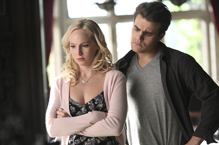 "The Vampire Diaries -- ""The Day I Tried to Live"" -- Image Number: VD613_0391.jpg -- Pictured: Candice Accola as Caroline and Paul Wesley as Stefan -- Photo: Annette Brown/The CW -- ?'?? 2015 The CW Network, LLC. All rights reserved."