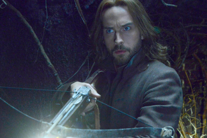 """SLEEPY HOLLOW: Ichabod (Tom Mison) faces demonic creatures that guard a secret crypt in the """"What Lies Beneath"""" episode of SLEEPY HOLLOW airing Monday, Feb. 9 (9:00-10:00 PM ET/PT) on FOX. ?2015 Fox Broadcasting Co. CR: Brownie Harris/FOX"""