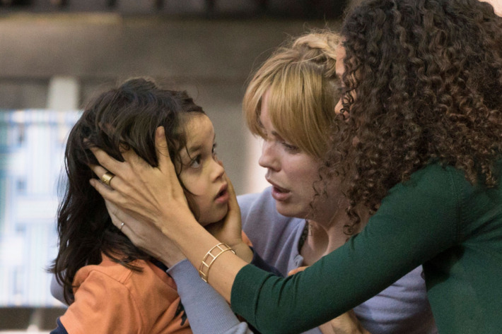 """THE SLAP -- """"Hector"""" Episode 101 -- Pictured: (l-r) Dylan Schombing as Hugo, Melissa George as Rosie, Thandie Newton as Aisha -- (Photo by: Virginia Sherwood/NBC)"""