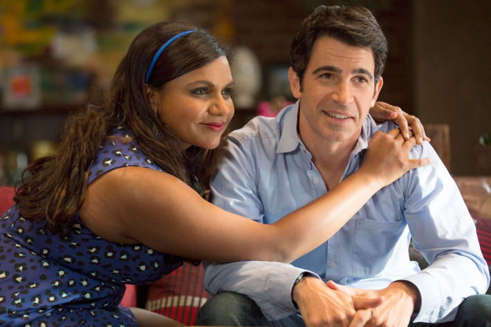 """THE MINDY PROJECT:  Mindy (Mindy Kaling, L) learns a lesson after Danny (Chris Messina, R) becomes frustrated with her chronic tardiness in the """"Caramel Princess Time"""" episode of THE MINDY PROJECT airing Tuesday, Nov. 4 (9:30-10:00 PM ET/PT) on FOX.  ?2014 Isabella Vosmikova/FOX"""