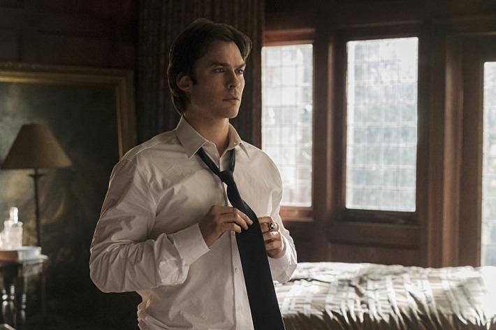 """The Vampire Diaries -- """"Let Her Go"""" Ian Somerhalder as Damon."""