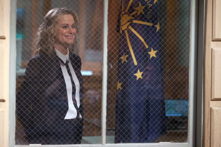"""PARKS AND RECREATION -- """"One Last Ride"""" Episode 712/713 -- Pictured: Amy Poehler as Leslie Knope -- (Photo by: Colleen Hayes/NBC)"""