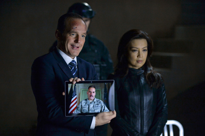 "MARVEL'S AGENTS OF S.H.I.E.L.D. - ""Aftershocks"" - In the midseason premiere, ""Aftershocks,"" Coulson's team must deal with the consequences of their war with Hydra as shocking revelations threaten to tear them apart, and Hydra makes a dangerous move that may involve a traitor in S.H.I.E.L.D.'s midst. ""Marvel's Agents of S.H.I.E.L.D."" returns for a dynamic, action-packed second half of season two, TUESDAY, MARCH 3 (9:00-10:00 p.m., ET) on the ABC Television Network. (ABC/Eric McCandless)CLARK GREGG, MING-NA WEN"