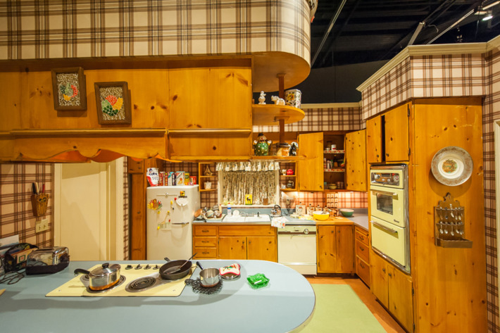 "New York - March 10, 2015. At the Museum of the Moving Image press preview for the exhibition ""Matthew Weiner's Mad Men."" The set for Betty and Don Draper's kitchen in their suburban Ossining, NY home, featured in seasons 1-4 of ""Mad Men."" Photo: Thanassi Karageorgiou / Museum of the Moving Image."