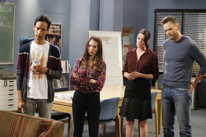 """Community; Season 6; Episode 601 """"Lawnmower Maintenance & Postnatal Care""""; Photo by Trae Patton/Yahoo/Sony Pictures Television"""