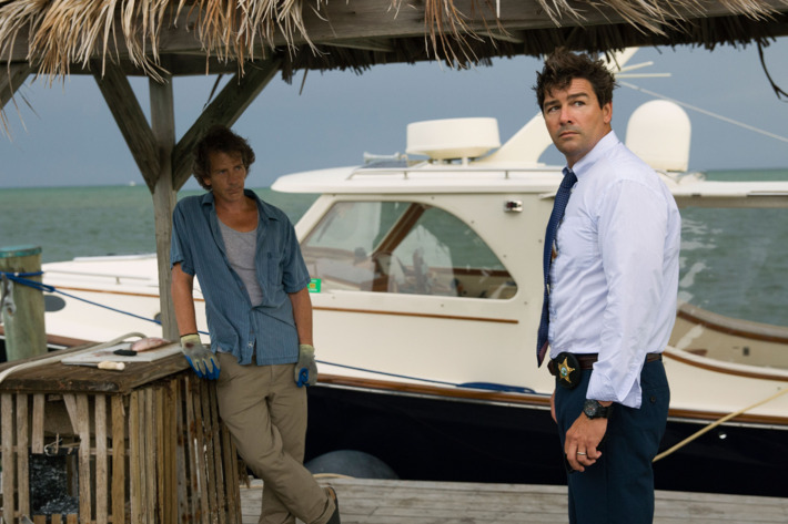 L to R: Ben Mendelsohn (Danny Rayburn) and Kyle Chandler (John Rayburn) in the Netflix Original Series BLOODLINE. Photo Credit: Saeed Adyani ? 2014 Netflix, Inc. All Rights Reserved.