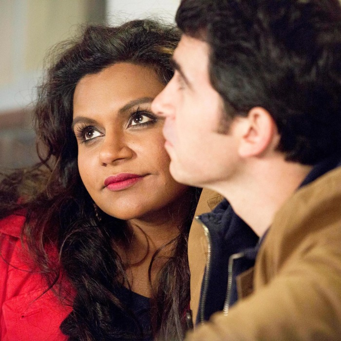 THE MINDY PROJECT: Mindy (Mindy Kaling, L) learns a lesson after Danny (Chris Messina, R) becomes frustrated with her chronic tardiness in the