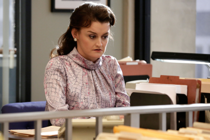 """THE AMERICANS -- """"One Day in the Life of Anton Baklanov"""" Episode 311 (Airs Wednesday, April 8, 10:00 PM e/p) Pictured:  Alison Wright as Martha Hanson. CR: Patrick Harbon/FX"""