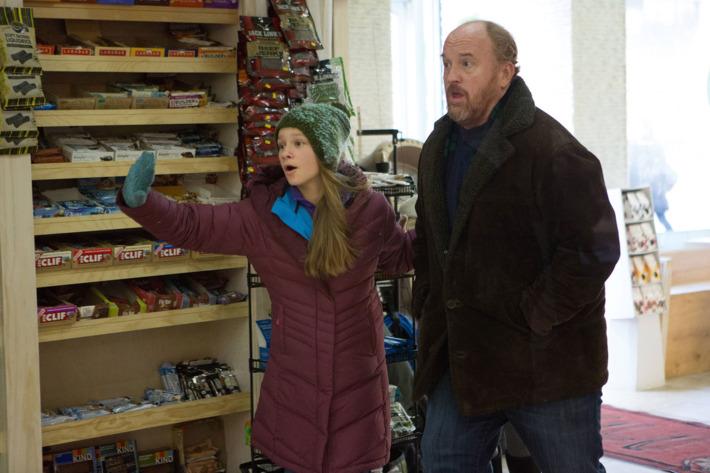 "LOUIE: Season 5, Episode 2 ""A La Carte"" (Airs Thursday, April 16, 10:30 pm e/p). Pictured: (l-r) Hadley Delany as Lilly, Louis C.K. as Louie. CR: KC Bailey/FX"
