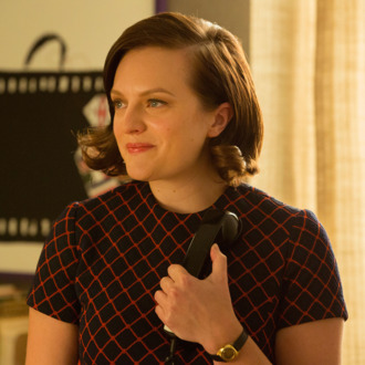 Elisabeth Moss as Peggy Olson - Mad Men _ Season 7B, Episode 14 - Photo Credit: Michael Yarish/AMC