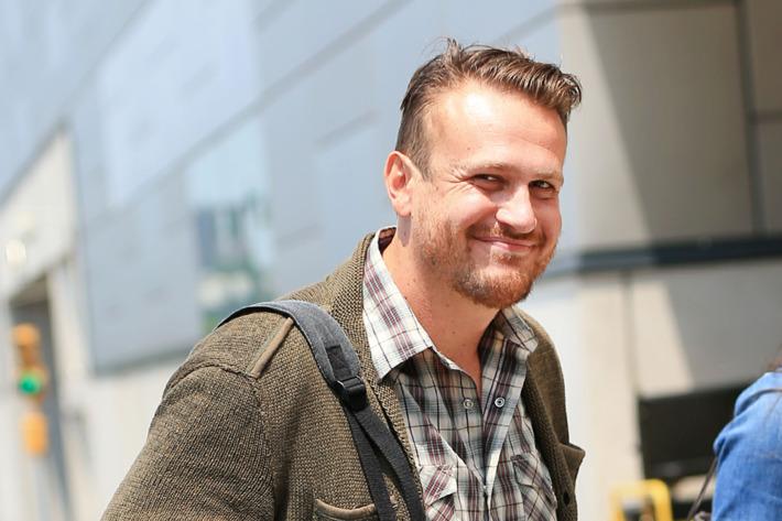 Jason Segel arrives at the Javitz Center in NYC
