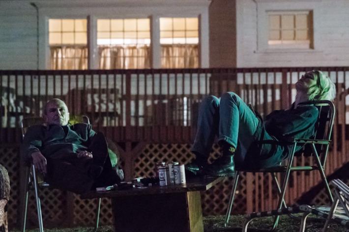 Toby Huss as John Bosworth and Mackenzie Davis as Cameron Howe - Halt and Catch Fire _ Season 2, Episode 2 - Photo Credit: Tina Rowden/AMC