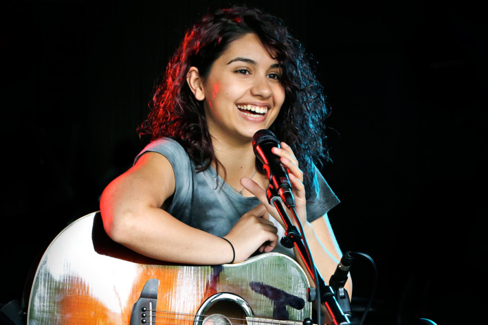 """Alessia Cara performs her Hit Song """"Here"""" at Edge 102.1 Radio Station in Toronto"""