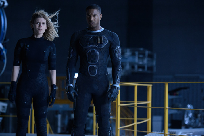 DF-12054 – Kate Mara as Sue Storm and Michael B. Jordan as Johnny Storm face off against an incredibly powerful enemy. Photo Credit: Ben Rothstein