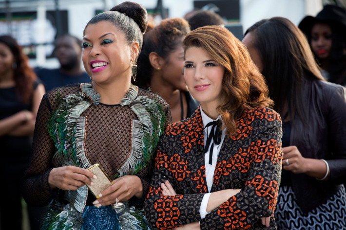 """EMPIRE: Pictured L-R: Taraji P. Henson as Cookie Lyon and guest star Marisa Tomei as Mimi Whiteman in the """"The Devils Are Here"""" Season Two premiere episode of EMPIRE airing Wednesday, Sept. 23 (9:00-10:00 PM ET/PT) on FOX.  ©2015 Fox Broadcasting Co. Cr: Chuck Hodes/FOX."""