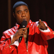 """File photo of Morgan speaking during the taping of the Spike TV special tribute """"Eddie Murphy: One Night Only"""" at the Saban theatre in Beverly Hills"""