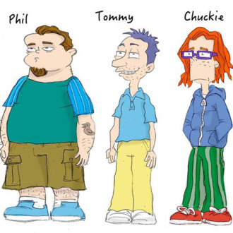 rugrats storyboard artist draws the definitive grown up version in a