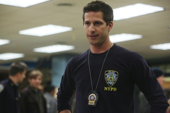 "BROOKLYN NINE-NINE: L-R: Andy Samberg in the ""Ava"" episode of BROOKLYN NINE-NINE airing Sunday, Nov. 22 (8:30-9:00 PM ET/PT) on FOX ©2015 Fox Broadcasting Co. Cr: FOX"