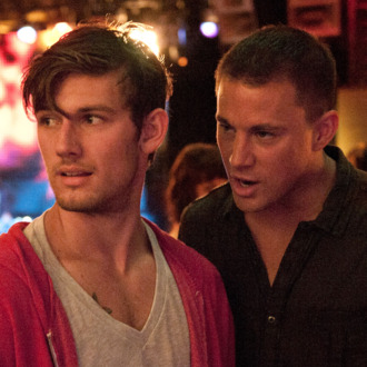 """(L-r) ALEX PETTYFER as Adam/The Kid and CHANNING TATUM as Mike in Warner Bros. Pictures' dramatic comedy """"MAGIC MIKE,"""" a Warner Bros. Pictures release.Photo by Claudette Barius"""