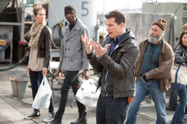 "BROOKLYN NINE-NINE: L-R: Andy Samberg in the ""The Swedes"" episode of BROOKLYN NINE-NINE airing Sunday, Dec. 6 (8:30-9:00 PM ET/PT) on FOX ©2015 Fox Broadcasting Co. Cr: John P. Fleenor/FOX"
