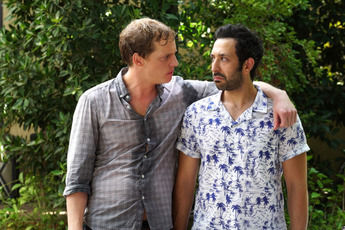 """YOU'RE THE WORST -- """"The Heart is a Dumb Dumb"""" -- Episode 213 (Airs Wednesday, December 9, 10:30 pm e/p) Pictured: Chris Geere as Jimmy, Desmin Borges as Edgar. CR: Byron Cohen/FX"""