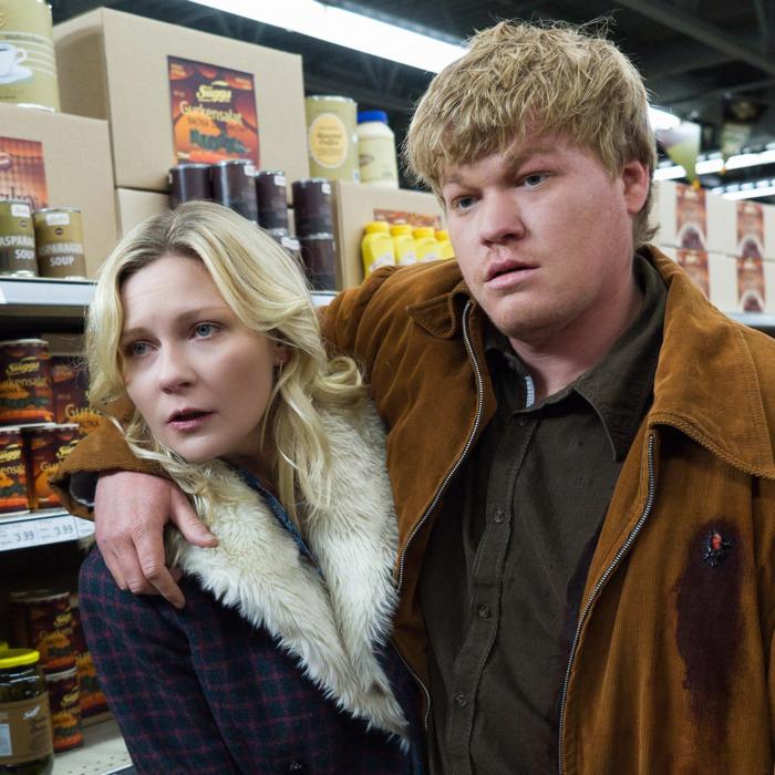 "FARGO -- ""Palindrome"" -- Episode 210 (Airs December 14, 10:00 pm e/p) Pictured: (l-r) Kirsten Dunst as Peggy Blumquist, Jesse Plemons as Ed Blumquist.CR: Chris Large/FX"