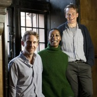 Harry Potter Play - The play starts 19 years after the last H Potter story ended.         Photo caption -  L-R Paul Thornley (Ron Weasley), Noma Dumezweni (Hermione Granger) and Jamie Parker (Harry Potter) at the Palace Theatre. Photo by Simon Annand         Photo from Janine.Shalom@premiercomms.com