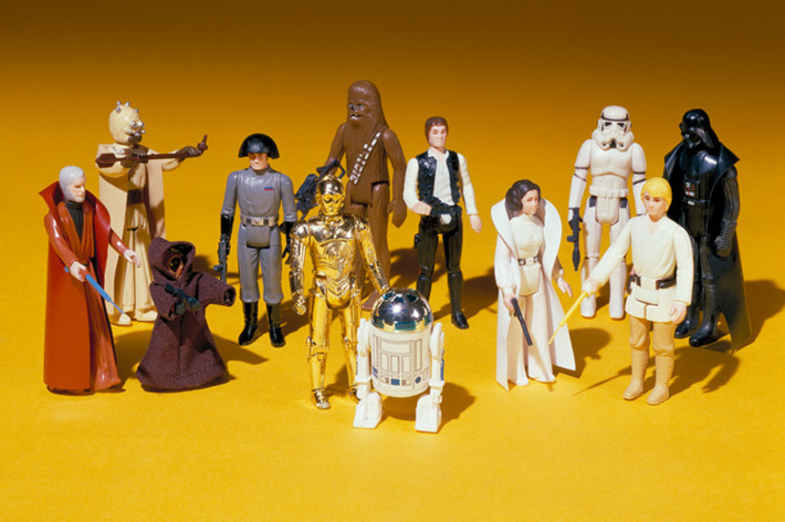 The first 12 <i>Star Wars</i> action figures released by Kenner in 1978, prototypes of which remain a holy grail for collectors.