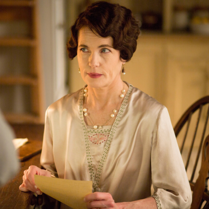 Downton AbbeyPart Three - Sunday, January 17, 2016 at 9pm ET on MASTERPIECE on PBSA wedding dress drama takes a disastrous turn. The breakfast battle is settled. A handsome volunteer helps Edith meet a deadline. The hospital debate gets nasty. Shown: Elizabeth McGovern as Cora, Countess of Grantham (C) Nick Briggs/Carnival Film & Television Limited 2015 for MASTERPIECE This image may be used only in the direct promotion of MASTERPIECE CLASSIC. No other rights are granted. All rights are reserved. Editorial use only. USE ON THIRD PARTY SITES SUCH AS FACEBOOK AND TWITTER IS NOT ALLOWED.