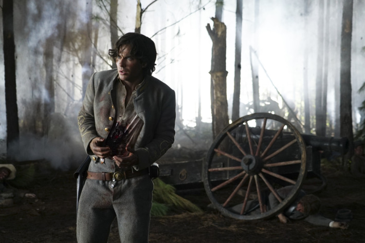 "The Vampire Diaries -- ""Hell Is Other People"" -- Image Number: VD710b_0235.jpg -- Pictured: Ian Somerhalder as Damon -- Photo: Annette Brown/The CW -- © 2016 The CW Network, LLC. All rights reserved."