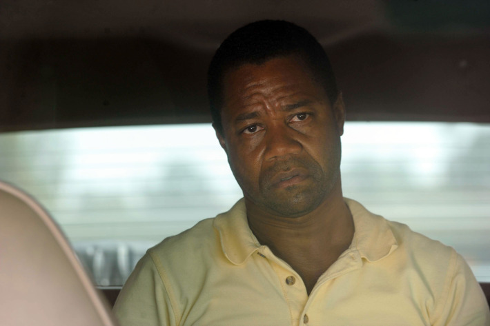 "THE PEOPLE v. O.J. SIMPSON: AMERICAN CRIME STORY ""The Run of His Life"" Episode 102 (Airs Tuesday, February 9, 10:00 pm/ep) --  Pictured: Cuba Gooding, Jr. as O.J. Simpson. CR: Ray Mickshaw/FX"