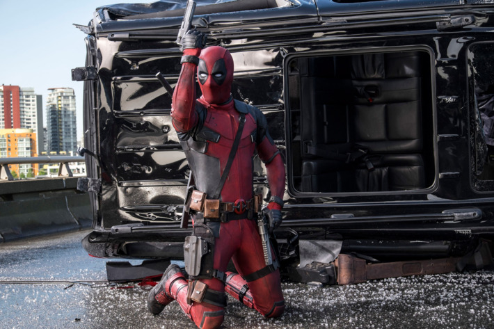 Deadpool (Ryan Reynolds) is armed and ready for battle (and his next quip).