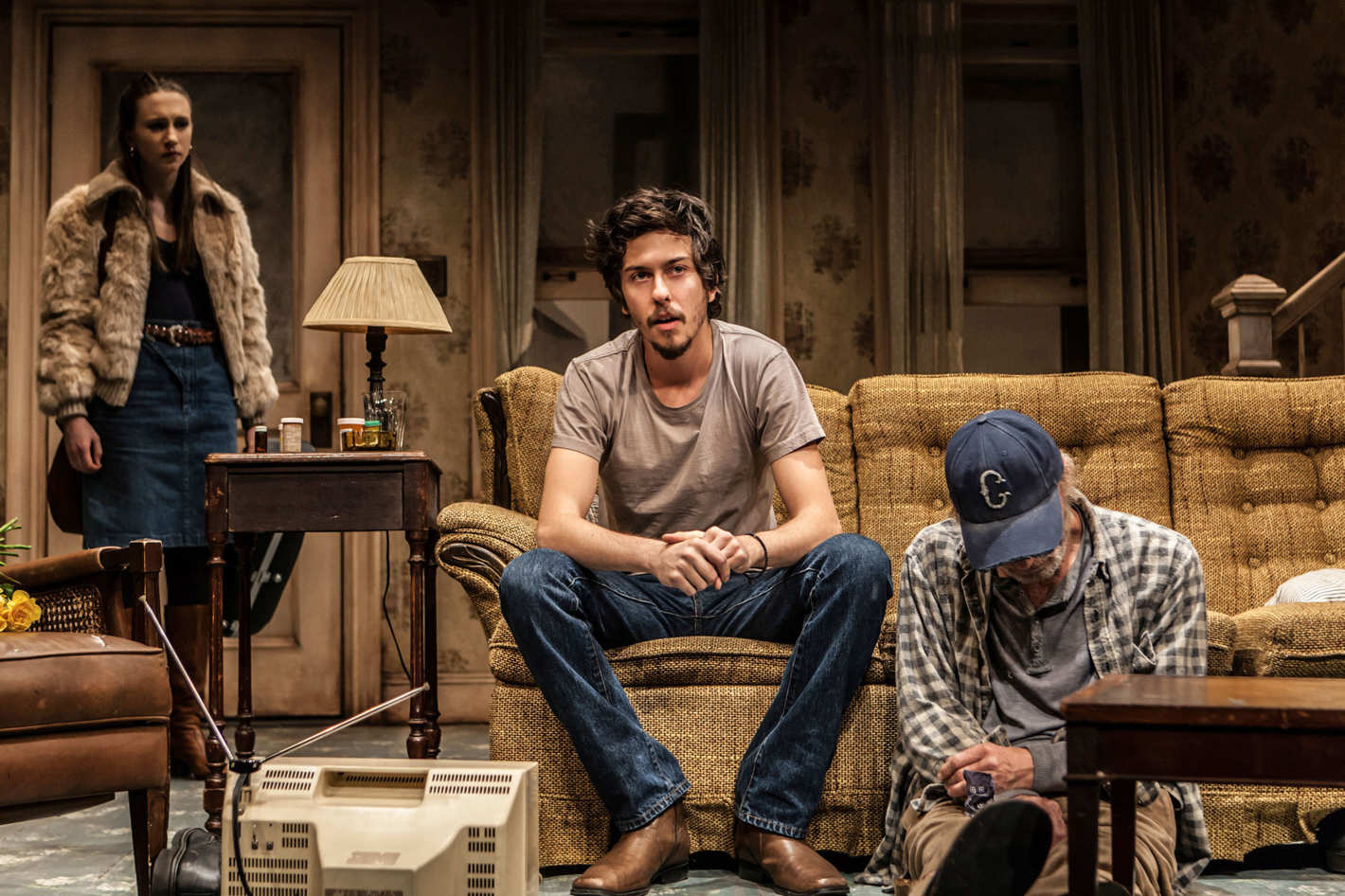 theater review ed harris and amy madigan give a center to sam